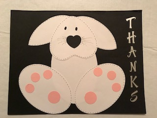 Milford Daisy thank you card for Steven's children's magic show