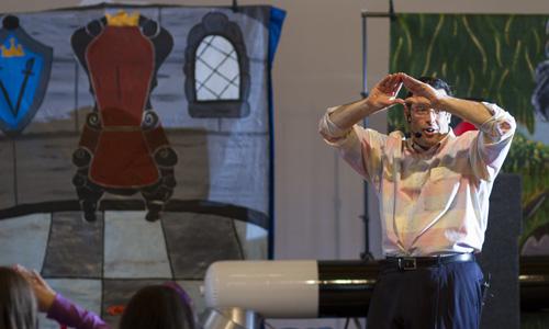 Steven Craig conducts magic workshop for children