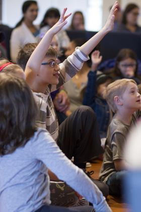 older kid participates at Steven Craig's school show